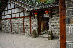 Gate of ancient Chinese dwelling building Royalty Free Stock Photos