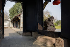 Gate of ancient Chinese mansion Stock Photos