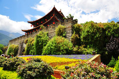 The gate of ancient city of Dali. This picture was taken in city of Dali , province of Yunnan , China stock photo