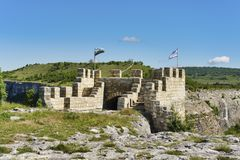 Gate of ancient fortress. Provadia, Bulgaria. Gate of ancient fortress. Ovech Fortress, Provadia, Bulgaria Royalty Free Stock Photos