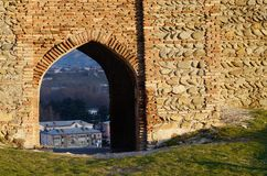 Gate of ancient Gori fortress ,Georgia,Caucasus,Eurasia Royalty Free Stock Photos
