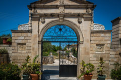 Gate of ancient Greek church Royalty Free Stock Images