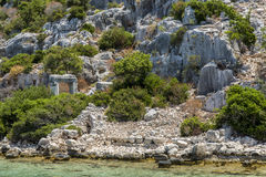 Gate in Ancient sunk city, Kekova, Kas, Antalya. Turkey Stock Images