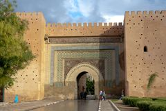 Gate in city wall Meknes, Morocco Stock Photos