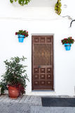 Gate in Andalusian white villages in Spain Royalty Free Stock Images