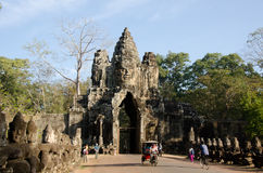 Gate of Angkor Thom Royalty Free Stock Images