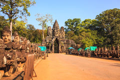 Gate of angkor thom Stock Image