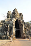 The gate of Angkor Thom. In Siem Reap Stock Images