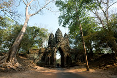 Gate within Angkor Wat site, Siem Reap, Cambodia Stock Images