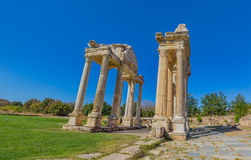 Gate in Aphrodisias Royalty Free Stock Photography