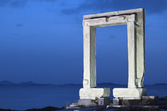 Gate of Apollon at Naxos island Royalty Free Stock Photo