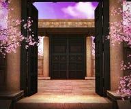 Gate Asian Backdrop Stock Photo
