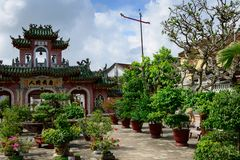 Gate of Assembly Hall, Hoian Ancient Town, Vietnam Stock Photos