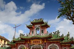 Gate of Assembly Hall, Hoian Ancient Town, Vietnam stock photo