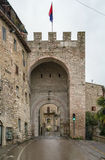 Gate in Assisi, Italy Stock Photos