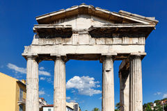 The Gate of Athena Archegetis, Greece Stock Photo