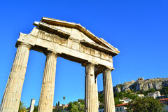 Gate of Athena Archegetis Stock Image