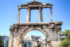 The Gate of Athens, Greece. The Athens gate in Athens, the capital of Greece Royalty Free Stock Image