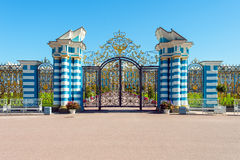 Gate of Сatherine's palace, St. Petersburg, Russia. Gate of Catherine's palace in Tsarskoe Selo, St Petersburg, Russia Stock Photos