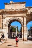 Gate of Augustus in Ephesus Stock Images