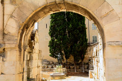 Gate of Augustus, Nimes, France Stock Images