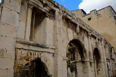 Gate of Augustus, Nimes, France Royalty Free Stock Photography