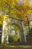 Gate at autumn park. Stock Images