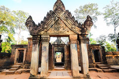 The gate of banteuy srei Royalty Free Stock Photography