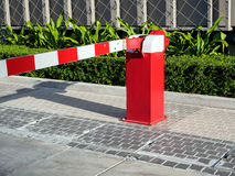 Gate barrier restricted car Royalty Free Stock Images