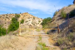 Gate Bars Entrance to Road Stock Photography