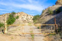 Gate Bars Entrance to Road Royalty Free Stock Image