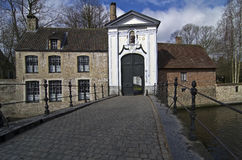 A Gate of Beguinage Bruges, Belgium. Royalty Free Stock Image