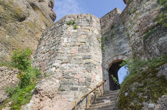 The gate of Belogradchik fortress, Bulgaria Royalty Free Stock Photos