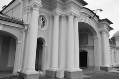 Gate of Big Menshikovsky palace in Oranienbaum. Royalty Free Stock Image