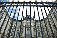 Gate Blocking Palace Stock Images