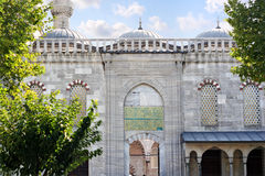 Gate of Blue Mosque. Typical gate and small domes of the mosque which built by Ottomans Royalty Free Stock Photo