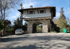 The gate in Botanical Gardens of Balchik. Royalty Free Stock Photo