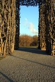 Gate of bound wooden branches Royalty Free Stock Images