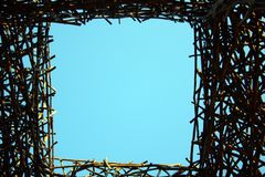 Gate of bound wooden branches Royalty Free Stock Photography
