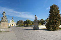 Gate of the Branicki Palace in Bialystok, Poland. Branicki Palace in Bialystok, Poland is a historical residence of Polish magnate Klemens Branicki a patron of Stock Photo