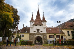 Gate brasov. Catherines Gate Brasov city stock photo