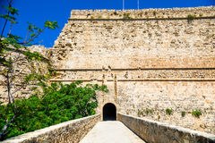 Gate and bridge of Kyrenia Castle. Cyprus.  royalty free stock photography