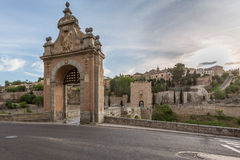 Gate and Bridge in the Medieval city of Toledo Royalty Free Stock Photo