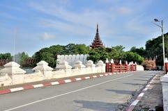 Gate Bridge to the Mandalay Palace Royalty Free Stock Photography