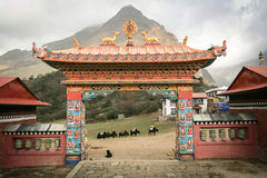 Gate in a Buddhist monastery Stock Photos