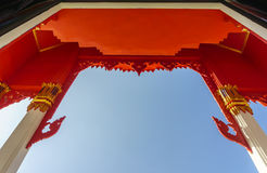 Gate of Buddhist temple Royalty Free Stock Images