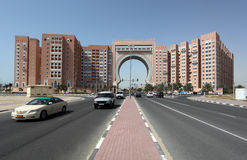 Gate Building in Dubai Stock Image