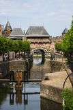 Gate called Koppelpoort and sluice in Amersfoort, The Netherlands royalty free stock photography