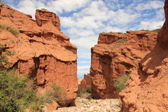 The gate of the canyon Skazka (Fairy Tale), Kyrgyzstan Royalty Free Stock Photos
