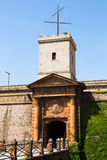 Gate of Castell de Montjuic in Barcelona Stock Photography